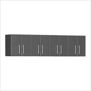 4-Piece Garage Wall Cabinet Kit in Graphite Grey Metallic