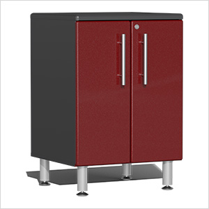 2-Door Base Garage Cabinet in Ruby Red Metallic