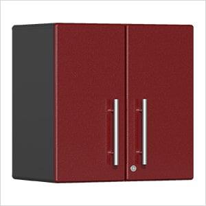 2-Door Wall Garage Cabinet in Ruby Red Metallic