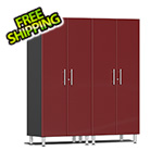 Ulti-MATE Garage Cabinets 2-Piece Tall Garage Cabinet Kit in Ruby Red Metallic
