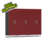 Ulti-MATE Garage Cabinets 3-Piece Tall Garage Cabinet Kit in Ruby Red Metallic