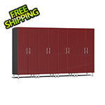 Ulti-MATE Garage 2.0 Series 4-Piece Tall Cabinet Kit in Ruby Red Metallic
