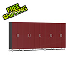 Ulti-MATE Garage Cabinets 5-Piece Tall Garage Cabinet Kit in Ruby Red Metallic