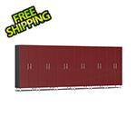 Ulti-MATE Garage Cabinets 6-Piece Tall Garage Cabinet Kit in Ruby Red Metallic