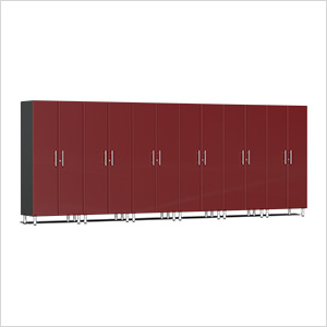 6-Piece Tall Garage Cabinet Kit in Ruby Red Metallic