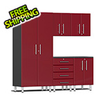 Ulti-MATE Garage Cabinets 5-Piece Cabinet Kit in Ruby Red Metallic