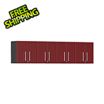 Ulti-MATE Garage 2.0 Series 4-Piece Wall Cabinet Kit in Ruby Red Metallic
