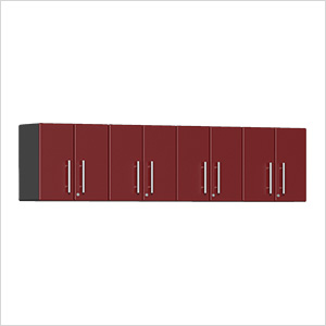 4-Piece Garage Wall Cabinet Kit in Ruby Red Metallic