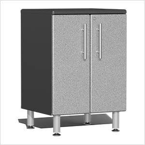 2-Door Base Garage Cabinet in Stardust Silver Metallic