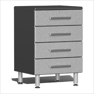 4-Drawer Base Garage Cabinet in Stardust Silver Metallic