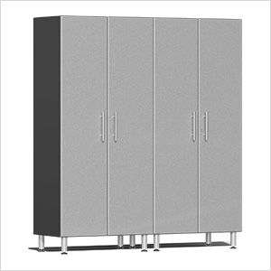 2-Piece Tall Garage Cabinet Kit in Stardust Silver Metallic