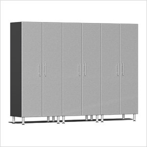 3-Piece Tall Garage Cabinet Kit in Stardust Silver Metallic