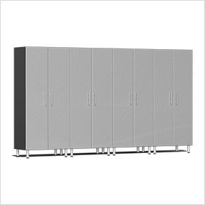 4-Piece Tall Garage Cabinet Kit in Stardust Silver Metallic