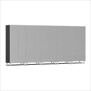 5-Piece Tall Garage Cabinet Kit in Stardust Silver Metallic