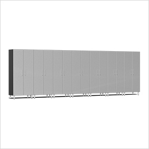 7-Piece Tall Garage Cabinet Kit in Stardust Silver Metallic
