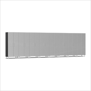 8-Piece Tall Garage Cabinet Kit in Stardust Silver Metallic