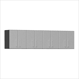 4-Piece Garage Wall Cabinet Kit in Stardust Silver Metallic