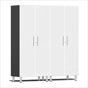 2-Piece Tall Garage Cabinet Kit in Starfire White Metallic