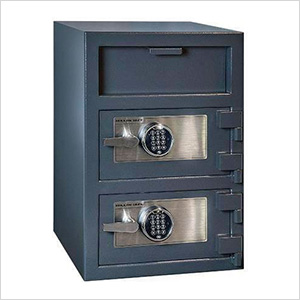 Front Load Double-Door Depository Safe with Electronic Locks