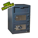 Hollon Safe Company Front Load Double-Door Depository Safe with Electronic and Key Locks