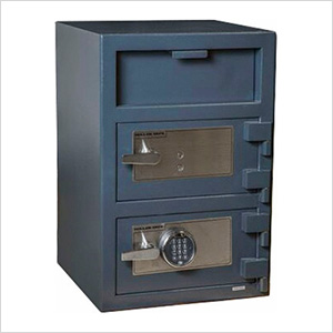 Front Load Double-Door Depository Safe with Electronic and Key Locks