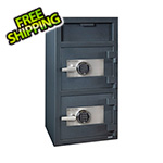Hollon Safe Company Front Load Double-Door Depository Safe with Electronic Locks