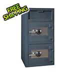 Hollon Safe Company Front Load Double-Door Depository Safe with Combination Locks