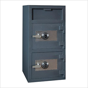 Front Load Double-Door Depository Safe with Combination Locks