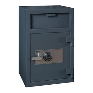 Depository Safe with Inner Locking Compartment and Combination Lock
