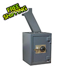Hollon Safe Company Through-the-Wall Deposit Safe with Combination Lock