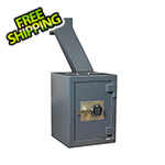 Hollon Safe Company Through-the-Wall Deposit Safe with Electronic Lock