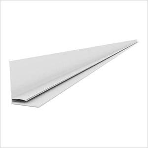 """49"""" PVC Slatwall L Trim (White)"""