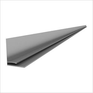 """49"""" PVC Slatwall L Trim (Light Grey)"""