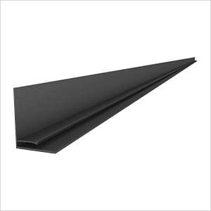 "49"" PVC Slatwall L Trim (Charcoal)"