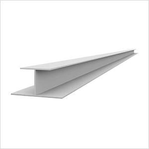 """49"""" PVC Slatwall H Trim (White)"""