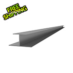 "Proslat 49"" PVC Slatwall H Trim (Light Grey)"