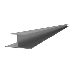 "49"" PVC Slatwall H Trim (Light Grey)"
