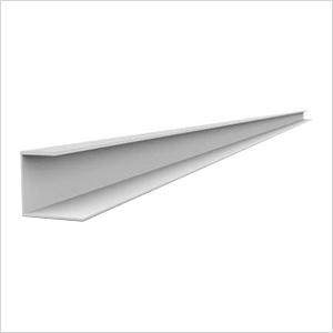 """49"""" PVC Slatwall J Trim (White)"""