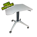 Pitstop Furniture Stand-Up Rolling Desk (Silver)