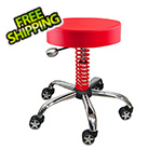 Pitstop Furniture Rolling Garage Stool (Red)