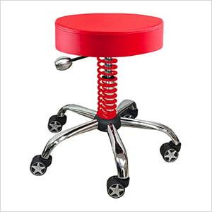 Rolling Garage Stool (Red)