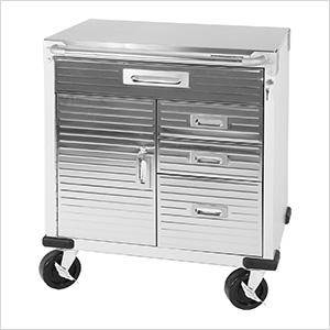 UltraHD Rolling Cabinet with Stainless Steel Top
