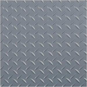 8.5' x 24' Diamond Tread Garage Floor Roll (Grey)