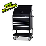 Montezuma 30-Inch 5-Drawer Utility Cart and Steel Triangle Toolbox