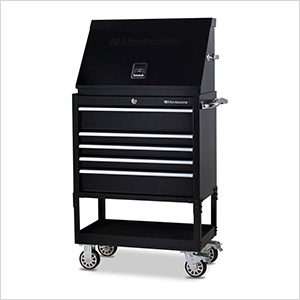 30-Inch 5-Drawer Utility Cart and Steel Triangle Toolbox