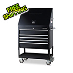 Montezuma 36-Inch 5-Drawer Utility Cart and Steel Triangle Toolbox