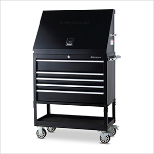 36-Inch 5-Drawer Utility Cart and Steel Triangle Toolbox