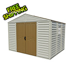 DuraMax Woodbridge 10.5' x 8' Vinyl Storage Shed with Foundation (non extendable)