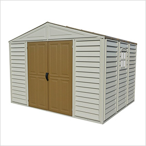 Woodbridge 10.5' x 8' Vinyl Storage Shed with Foundation (non extendable)