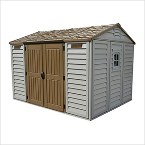 Woodbridge 10.5' x 8' Apex Vinyl Shed with Foundation Kit